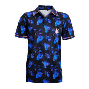 Sculls and Flowers Polo